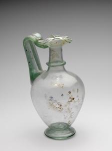 TREFOIL-LIPPED ROMAN GLASS JUG