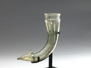 Roman glass snail rhyton