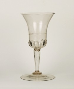 32E Venitian Wine Goblet H: 15.3 cm First half of 17th C