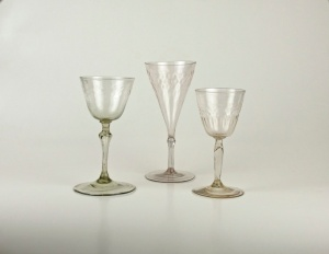 from left to right 68E, 77E, 76E French verre de fougere
