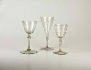 from left to right 68E, 77E, 76E French verre de fougere
