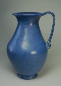 OPAQUE BLUE ROMAN GLASS JUG SIDE B