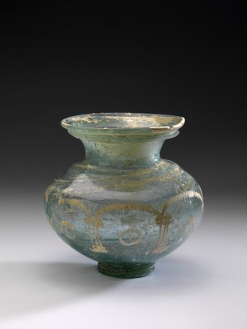 WHEEL-ABRADED ROMAN GLASS JAR