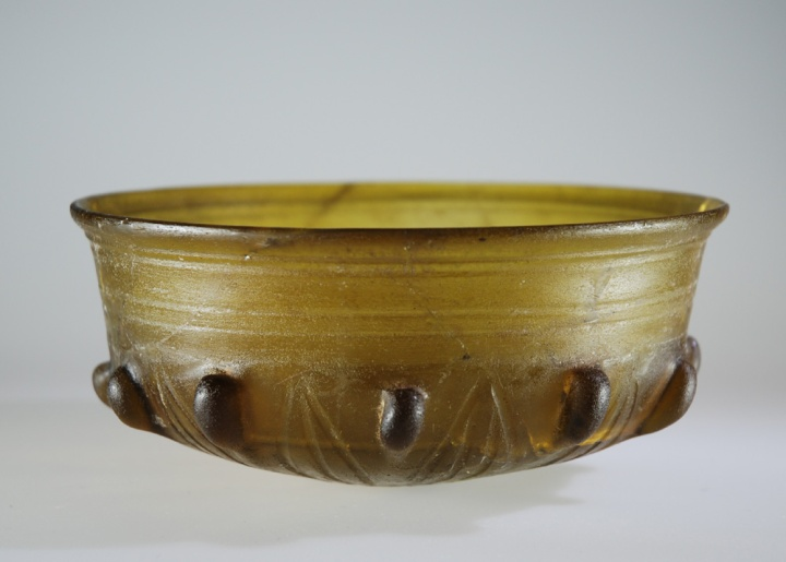 Hellenistic cast, slumped, cut bowl top