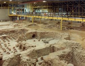 The museum set on Roman bath