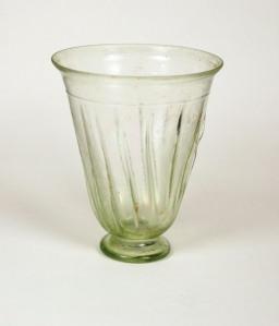 70R ROMAN GLASS BEAKER, H: 10.2 cm, Rim D: 8.5 cm, Date: 1st - early 2nd century, Possibly Western