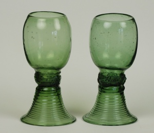 46E A&B A Pair of Matching Roemers 17th-18th Century