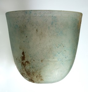 2 ROMAN GLASS BEAKER FROM THERHINELAND